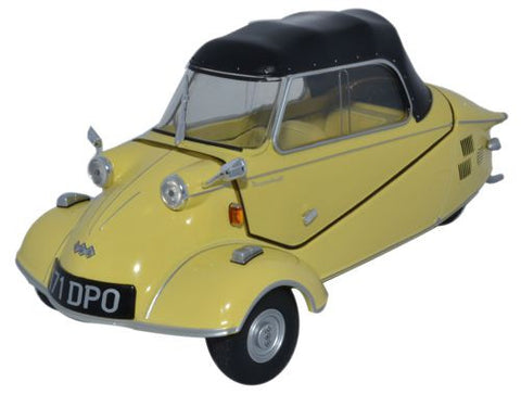 Oxford Diecast Messerschmitt KR200 Bubble Cabrio Mimosa Yellow - 1:18