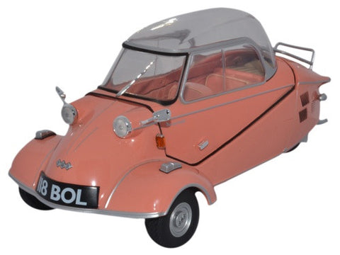 Oxford Diecast Messerschmitt KR200 Bubble Top Rose - 1:18 Scale