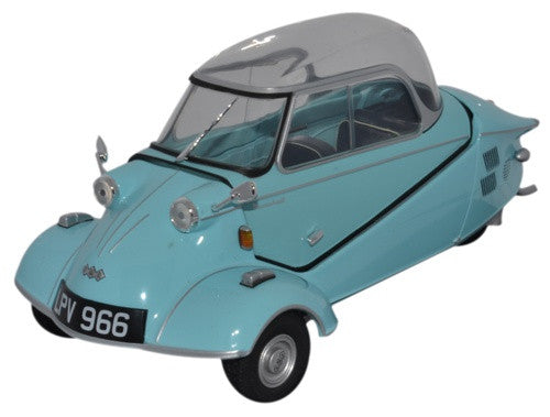 Oxford Diecast Messerschmitt KR200 Bubble Top Light Blue - 1:18 Scale