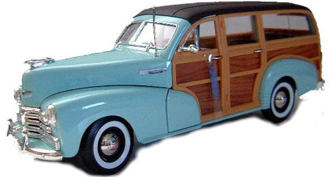 WELLY Chevrolet Fleetmaster 1948 Blue - 1:24 Scale