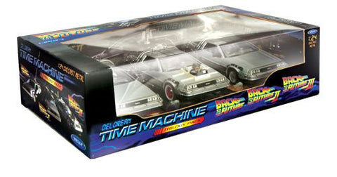 WELLY Back To Future Trilogy Set - 1:24 Scale
