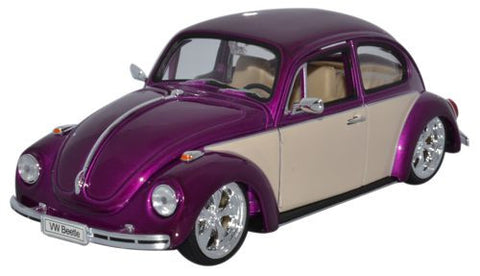 WELLY VW Beetle Purple  Low Rider - 1:24 Scale