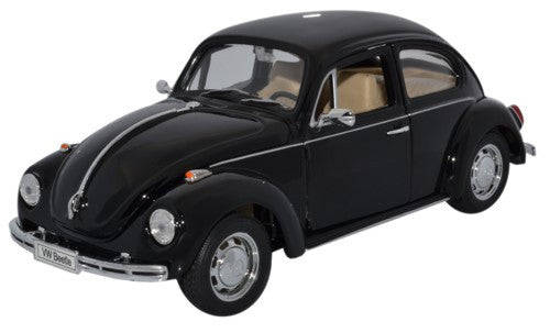 WELLY VW Beetle Hard Top Black - 1:24 Scale