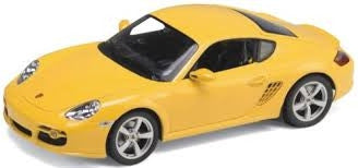 WELLY Porsche Cayman S Yellow - 1:24 Scale
