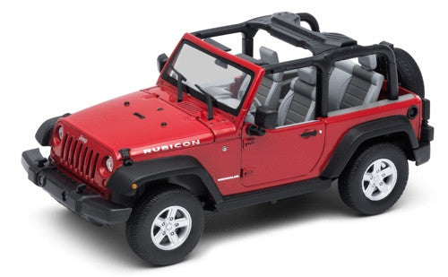 Welly Jeep Wrangler Rubicon - Convertible  Red