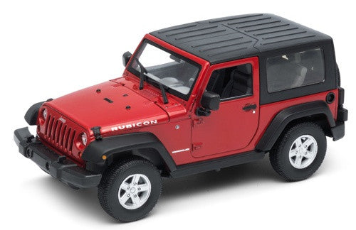 Welly Jeep Wrangler Rubicon - Soft Top Red