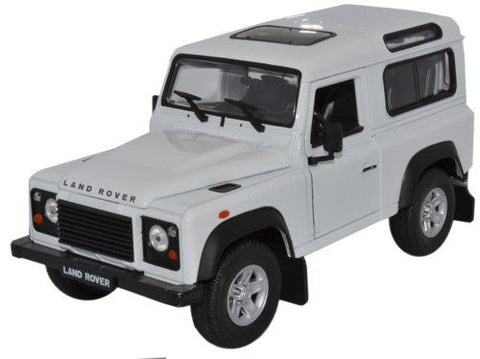 WELLY Land Rover Defender White - 1:24 Scale