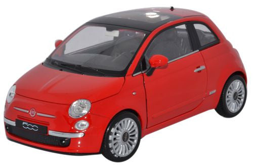 WELLY Fiat 500 Red - 1:24 Scale