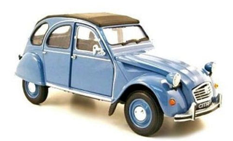 WELLY Citroen 2CV Blue - 1:24 Scale