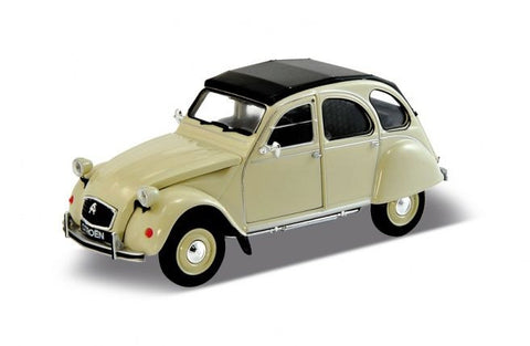WELLY Citroen 2CV Cream - 1:24 Scale