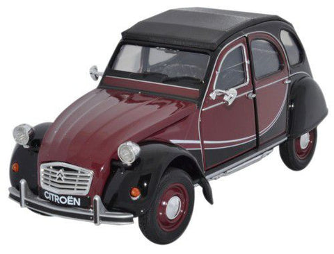 WELLY Citroen 2CV Red & Black - 1:24 Scale