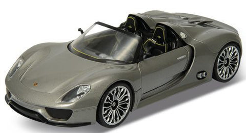 WELLY Porsche 918 Spyder  M GRAY - 1:24 Scale