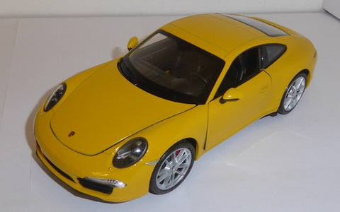 WELLY Porsche 911 Yellow - 1:24 Scale