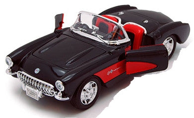 WELLY Chevrolet Corvette 1957 Black - 1:24 Scale