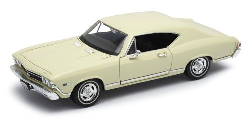 WELLY Chevrolet Chevelle 1968 Cream - 1:24 Scale