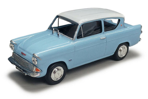 Cararama Ford Anglia Light Blue