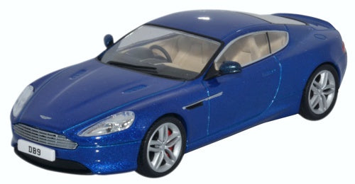 Oxford Diecast Aston Martin DB9 Coupe Cobalt Blue