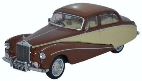Oxford Diecast Rolls Royce Silver Cloud/hooper Empress Brown/cream