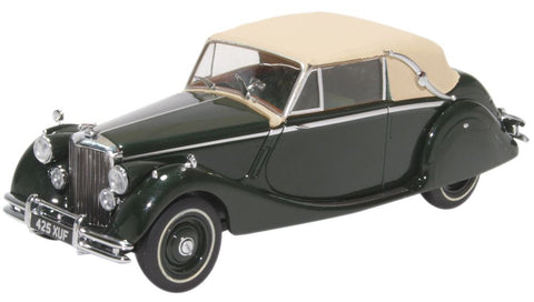 Oxford Diecast Jaguar Mkv DHC Closed British Racing Green