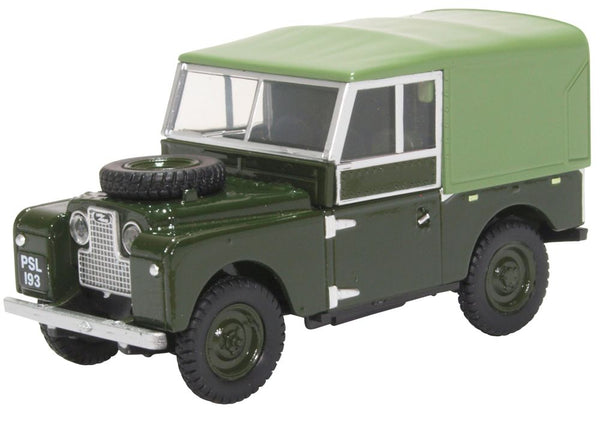 Oxford Diecast Land Rover Series I 88inch Canvas Bronze Green.