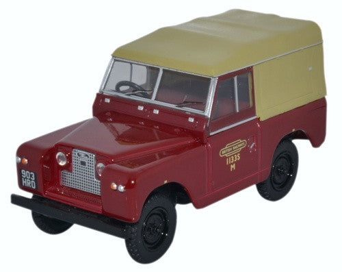 Oxford Diecast Land Rover Series II SWB Canvas British Railways