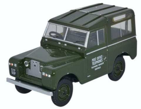 Oxford Diecast Land Rover Series II Swb Hard Back Post Office Telephon