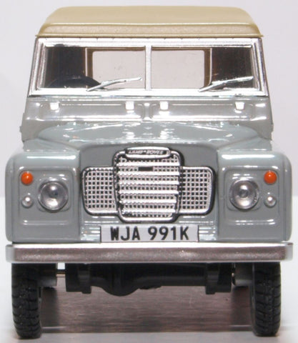 Oxford Diecast Land Rover Series III SWB Canvas Mid Grey