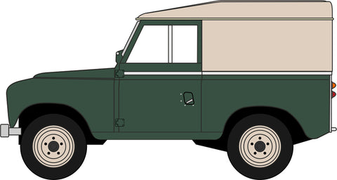 Oxford Diecast Land Rover Series III SWB Hard Top Bronze Green