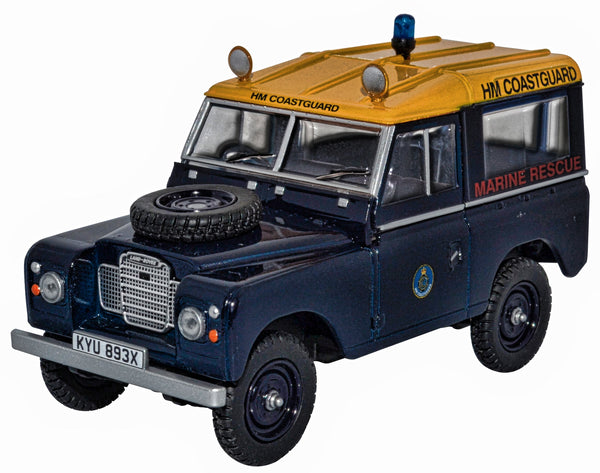 H M Coastguard Land Rover 1:43rd scale marine rescue.
