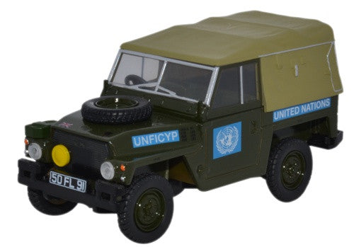 Oxford Diecast Land Rover 1/2 Ton Lightweight United Nations - 1:43 Sc