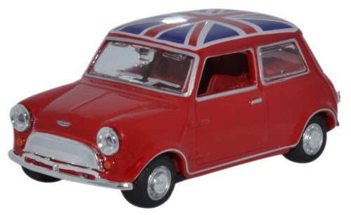 Oxford Diecast Tartan Red/union Jack Austin Mini