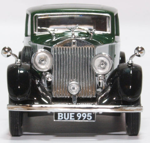 Oxford Diecast Rolls Royce 25/30 - Thrupp & Maberley Dark Green/Black
