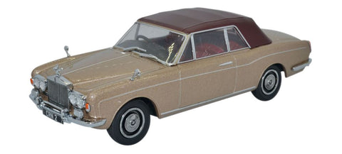 Oxford Diecast Rolls Royce Corniche Convertble Closed Persian Sand