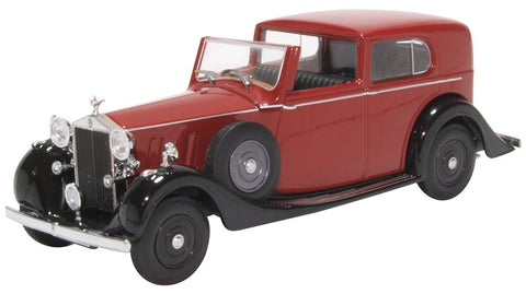 Oxford Diecast Rolls Royce Phantom III SDV Mulliner Claret and Black