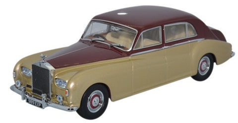 Oxford Diecast Rolls Royce Phantom V James Young Burgundy/Silversand