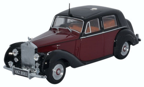 Oxford Diecast Rolls Royce Silver Dawn/std Steel Maroon/black