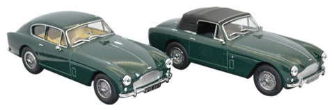Oxford Diecast Aston Martin DB2 MKII Twin Set Saloon and DHC - 1:43 Sc
