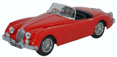 Oxford Diecast Jaguar XK150 Roadster Carmen Red