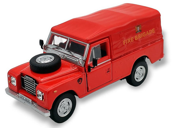 Cararama Land Rover Series 3 109 Soft Top Red Fire Brigade