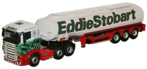 Oxford Diecast Eddie Stobart Scania Highline Tanker - 1:76 Scale