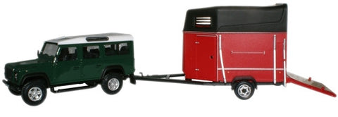 CARARAMA Land Rover & Horsebox - 1:43 Scale - OxfordDiecast