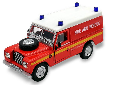 Cararama Land Rover Series 3 109 Hard Top Red Fire and Rescue