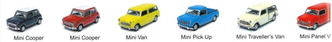 Mini Classic Cars - 1:72 Classic Mini Assortment