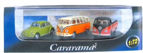 CARARAMA Triple VW Classic - 1:72  - 1:72 Scale - OxfordDiecast