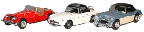 CARARAMA Classic Car Pack Morgan-MGB-Healey - 1:72 Scale - OxfordDiecast