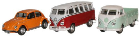 CARARAMA VW Classic Pack - 1:72 Scale - OxfordDiecast