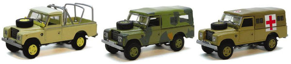 CARARAMA Land Rover 3 piece Set - 1:72 Scale - OxfordDiecast