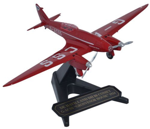Oxford Diecast DH 88 Comet G-ACSS Grosvenor House 1:72 Model Aircraft
