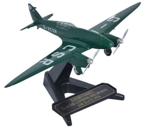 Oxford Diecast DH88 Comet G-ACSR  1:72 Model Aircraft