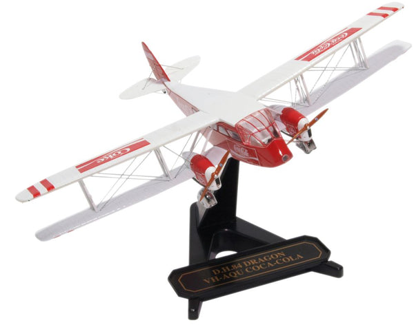 Oxford Diecast DH84 Dragon VH-AQU  Coca Cola 1:72 Model Aircraft